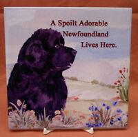 NEWFOUNDLAND dog new glossy tile Dog Lover Gift Sandra Coen Collectables