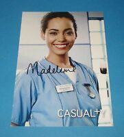 MADELEINE MANTOCK GENUINE SIGNED AUTOGRAPH 6x4 CAST CARD CASUALTY SCARLETT + COA