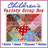 BonEful Fabric 4H Home School Sewing Machine Baby Child Kid Quilt SCRAP BOX LOT