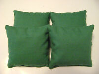 4 CORNHOLE BEAN BAG CORN HOLE BAGGO SOLID GREEN TAILGATE TOSS REGULATION QUALITY