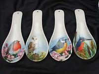 British Birds Spoon Rest  ~ Kingfisher / Robin / Blue Tit / Owl ~ 4 Designs
