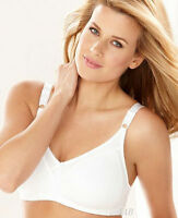Bali Double Support Stretch Cotton Wirefree Bra - Style 3036 - White