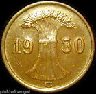Germany - German 1930G Reichspfennig Coin Third Reich Era Coin