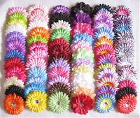 Lot/set Girls Baby Daisy/peony/feathers Flowers Hair Bow clip & Crochet Headband