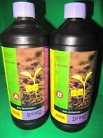 Atami B'Cuzz Nutrition A+B. Soil Professional bio mineral Nutrition. 1 Litre.