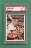 1965 Topps St. Louis Cardinals Bob Skinner # 591 PSA 8 NM-MT Low Pop High # !!!!