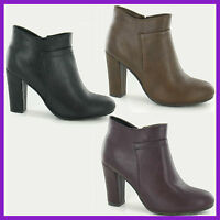 WHOLESALE Ladies Fashion SPOTON Mid Heel Ankle Boots > Sizes 3-8 x14prs F5949