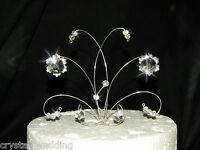 Swarovski Elements Crystal SNOWFLAKE wedding cake topper decoration
