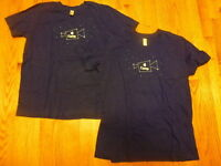APPLE CAMP T-SHIRT Blue Youth XL Size 16 tee logo MacBook Pro AMERICAN APPAREL