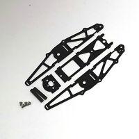 XTREME RACING BLACK G-10 1/24 MICO SLOT CAR DRAG CHASSIS XTR20040 INLINE BRACKET