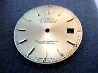 Genuine original men's Rolex Datejust Champagne dial stick markers cal 3135 3035
