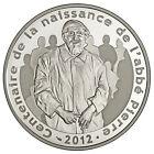 Pièce de 10 euros argent - Abbé Pierre - Belle épreuve BE - 2012 - France