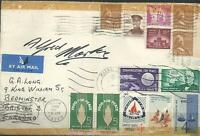 AUTOGRAPH, 1964, ALFRED MARKS, SIGNED AMERICAN COVER