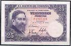 ESPAÑA 25 PESETAS 1954 ISAAC ALBÉNIZ Serie P, MBC+ VF+
