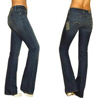 $178 Seven 7 For All Mankind Kimmie Sexy Curvy Bootcut Gummy MidRise Jeans 24 26