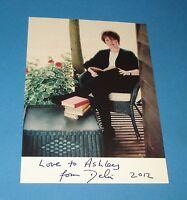 DELIA SMITH GENUINE SIGNED AUTOGRAPH 6x4 PERSONALISED PHOTO CARD TV CHEF + COA
