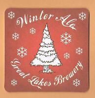 GREAT LAKES BREWERY - Winter Ale Beer Mat / Coaster Toronto Canada Christmas