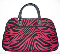 PINK ZEBRA NICE WOMEN TRAVEL DUFFLE GYM BAG Luggage Large Carry-on 22""