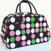 MULTICOLOR PODKA DOT NICE WOMEN TRAVEL DUFFLE GYM BAG Luggage Large Carry-on 22""