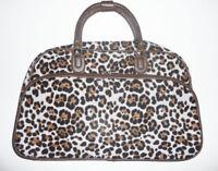 "LEOPARD ANIMAL NICE NICE WOMEN TRAVEL DUFFLE GYM BAG Luggage Large Carry-on 22"""