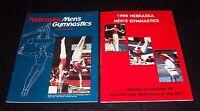 Nebraska Huskers Mens & Womens Gymnastics Media Guides Magazine Lot 1988 & 1990