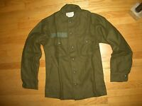 """CANADIAN MILITARY COLD WEATHER WOOL COAT SIZE SMALL 70/37"""" Inventory Code O80"""