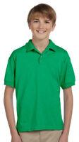 Gildan Youth Woodtone Button Short Sleeve 50/50 Sport Polo Shirt. G880B