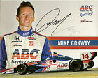 2012 MIKE CONWAY signed INDIANAPOLIS 500 PHOTO CARD POSTCARD INDY CAR HONDA FOYT