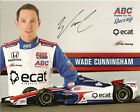 2012 WADE CUNNINGHAM signed INDIANAPOLIS 500 PHOTO CARD POSTCARD INDY CAR HONDA