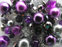 Jewellery Making Kit  - Purple Rain  -  Make A Necklace, Bracelet & Earrings