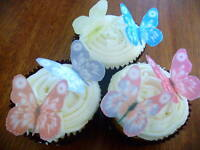 12 Edible wafer/rice paper Butterflies cake/cupcake Toppers  **Precut**