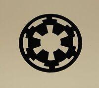 "Imperial Logo Vinyl Decal Sticker Star Wars BLACK 1/2"""