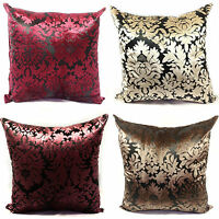 LARGE VELVET DAMASK SCATTER CUSHIONS OR COVERS IN 4 LOVELY COLOURS