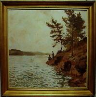 Folmer Bonnén 1885-1960, Angler am See, um 1940/50