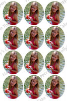 YOUR OWN ANY PHOTO CUP CAKE Rice Wafer Paper Toppers x 12 *SAME DAY POST