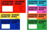 25 50 100 250 500 1000 Dokumenten-  Lieferscheintaschen rot DIN-LANG, selbstkl.