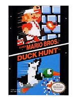 SUPER MARIO BROS DUCK HUNT with cosmetic flaws NINTENDO GAME 2 GAMES NES HQ