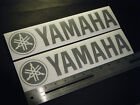 "Yamaha Outboards Boats Silver Decal 12"" Stickers (Pair)"