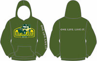 ROVING LANDS ONE LIFE LIVE IT HOODIE CAMEL TROPHY DAKAR LAND ROVER SHOW ALRC