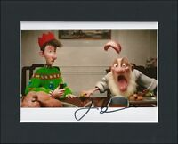 JIM BROADBENT ARTHUR CHRISTMAS HAND SIGNED MOUNTED AUTOGRAPH PHOTO WITH COA