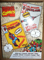 Williams-Sonoma Marvel Comics Cookie Cutter Set Spider-Man comic book covers