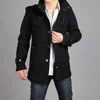 New Men's Wool Coat Casual wool Trench Coat Outear Overcoat Jacket SIZE:M-XXXXL