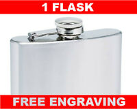 1 Personalized 6oz Flask Groomsmen  Usher Wedding Birthday Personalized gift
