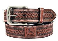 John Deere Bridle Leather Belt - Tan - SZ 32 - 46 - Thick Heavy Genuine Leather
