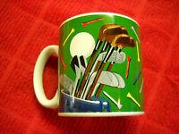 Burton + BURTON Golf Clubs Tees Bag Golfing Theme Coffee Tea Mug Cup Green White