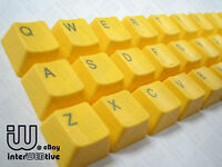 Yellow color 37 Keycaps with Gray text on top for Cherry MX Series keyboard