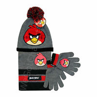 Official Angry Birds 3 Piece Set 3-6 7-10 11-13 Years Boys Winter Hat Gloves