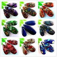 Wholesale 3pcs Mixed Gemstone Sea Sediment Jasper Pendant Bead Set M-DX022RL