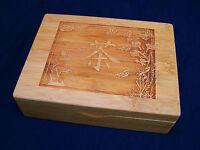 Laser Engraved Japanese Tea SymbolTea Box Jewelry Box