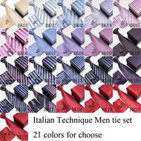 Super Quality Men's Boxed Matching Tie Handkerchief Cufflinks Gift Set 21designs